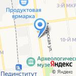 Салон А на карте Южно-Сахалинска