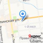 Клиника доктора Дегтярева на карте Южно-Сахалинска