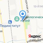 Таргет на карте Южно-Сахалинска