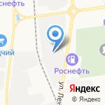 Бином на карте Южно-Сахалинска