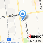 Red Corner на карте Южно-Сахалинска
