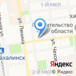Билетур на карте Южно-Сахалинска