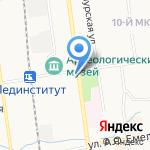 МегаТревел.РФ на карте Южно-Сахалинска