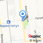 Сеть магазинов замков на карте Южно-Сахалинска