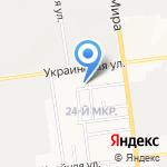 Радужный на карте Южно-Сахалинска