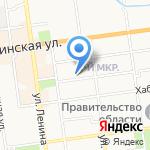 Средняя общеобразовательная школа №5 на карте Южно-Сахалинска