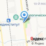 Парадайз на карте Южно-Сахалинска