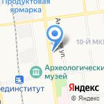 Черная Роза на карте Южно-Сахалинска