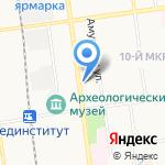 Али-рус на карте Южно-Сахалинска
