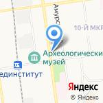Агат на карте Южно-Сахалинска