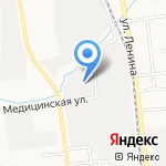 Руно на карте Южно-Сахалинска
