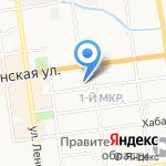 Фемида на карте Южно-Сахалинска