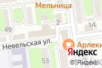 Схема проезда до компании Народное в Южно-Сахалинске
