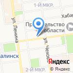 Центр дополнительного и профессионального образования на карте Южно-Сахалинска