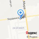 Лужники на карте Южно-Сахалинска