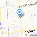 Скарлет на карте Южно-Сахалинска