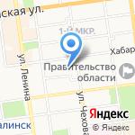 Испытательный лабораторный центр на карте Южно-Сахалинска