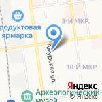 Гламур на карте Южно-Сахалинска