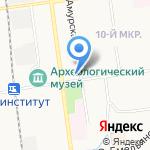 Средняя общеобразовательная школа №16 на карте Южно-Сахалинска