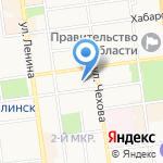 Магазин цветов на карте Южно-Сахалинска
