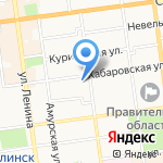 Центр гигиены и эпидемиологии в Сахалинской области на карте Южно-Сахалинска