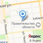 Отделочник XXI на карте Южно-Сахалинска