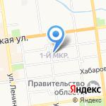 Поляна на карте Южно-Сахалинска