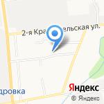 У Камина на карте Южно-Сахалинска