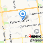 СахИнфо-Сервис на карте Южно-Сахалинска