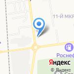 Подсолнух на карте Южно-Сахалинска