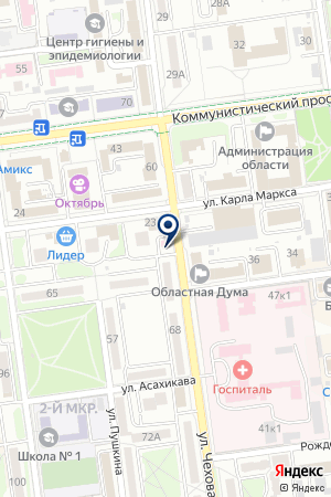 ОПТИКА ЛИНЗОЧКИ на карте Южно-Сахалинска