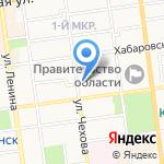 Арминэ на карте Южно-Сахалинска