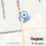 Интершина на карте Южно-Сахалинска