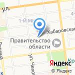 Перевозчик на карте Южно-Сахалинска