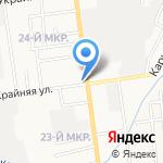 Каравай на карте Южно-Сахалинска