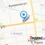 Жар-Птица на карте Южно-Сахалинска