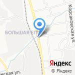 Джипус на карте Южно-Сахалинска