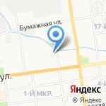 Акомс на карте Южно-Сахалинска