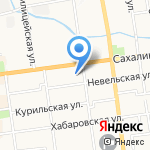 Южно-Сахалинский гарнизонный военный суд на карте Южно-Сахалинска