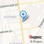 Нэф на карте Южно-Сахалинска