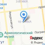 Журавлёнок на карте Южно-Сахалинска
