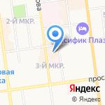 Квартирный ответ на карте Южно-Сахалинска