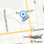 ВСК-ВЕКО на карте Южно-Сахалинска