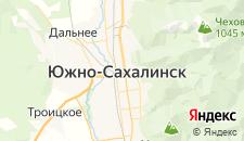Отели города Южно-Сахалинск на карте