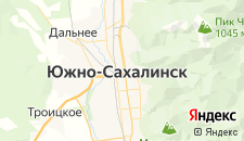 Гостиницы города Южно-Сахалинск на карте