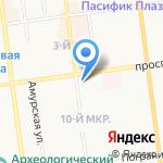 Юнилаб на карте Южно-Сахалинска