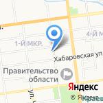 Натали на карте Южно-Сахалинска