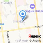 Городской родильный дом на карте Южно-Сахалинска