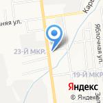 Микс на карте Южно-Сахалинска