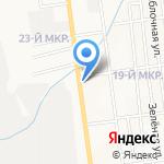 Привет на карте Южно-Сахалинска